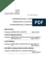 Commissioni Esami Principali.e Compl. a.a.2012 2013