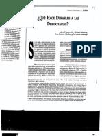 Alvarez, Cheibub, Przeworski y Limongi. Las condiciones económicas e institucionales de la durabilidad de las democracias