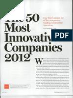 5. Presentación en Equipo 2- 2012 The 50 most innovative companies TR50