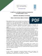 """Progetto """"Un dono per la vita"""", delibera standard per i Comuni del Friuli V.G - 23 ottobre 2009"""