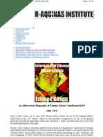 Bio of Etienne Gilson Society Bi