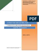 Comunicare Si Relatii Publice in Organizatii Politice - Unitatea I