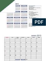 Calendario 2013 N° 1