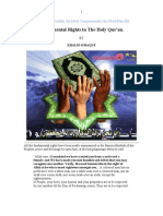 Fundamental Rights in The Holy Qur'an