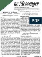 Nazarene Messenger - December 30, 1909