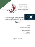 UFT=Elementos Del Curriculum=Daniel Contreras