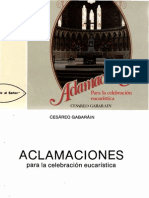 24561547 Aclamaciones Para La Celebracion Eucaristica Cesareo Gabarain