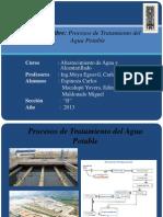 Procesos de Tratamiento de Agua