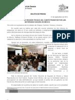23/09/12 Germán Tenorio Vasconcelos inaugura  Comite Por Una Maternidad Segura