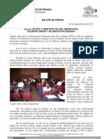 26/09/12 Germán Tenorio Vasconcelos imparte Ops y Cenavece Taller, Manejo Del Paciente Grave y No Grave Por _0