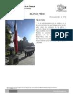 26/09/12 Germán Tenorio Vasconcelos pie de Foto, Izamiento de Bandera