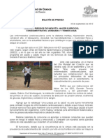 29/09/12 Germán Tenorio Vasconcelos reduce Riesgos de Infartos, Haz Ejercicio,Comefrutas,Verduras y Toma Agua