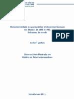 Monumentalidade e Espaço Público em Lourenço Marques (1930-1940).  de Gerbert Verheij