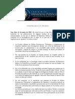 Comunicado de Prensa Aclaratorio