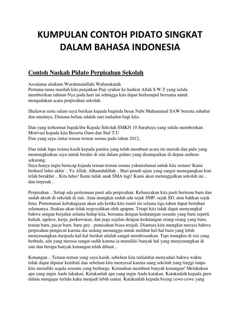Contoh Teks Ceramah Bahasa Indonesia Just4udakar Com
