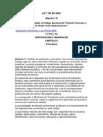 Ley de Transito-769 de 2002