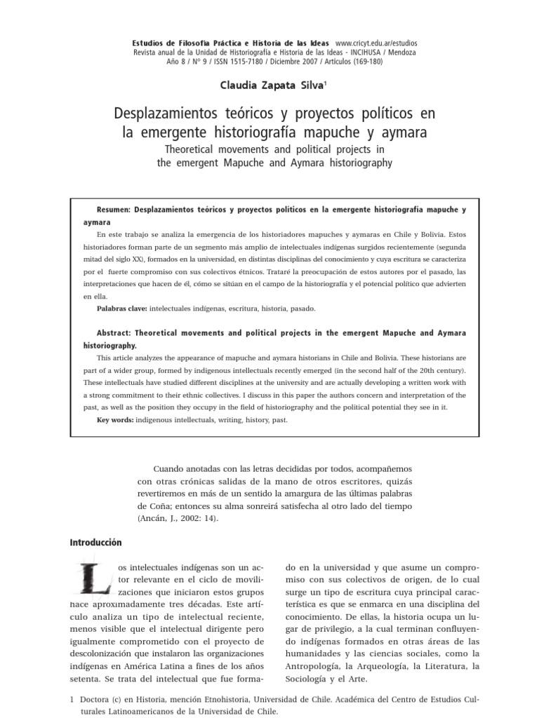 Desplazamientos Te Ricos y Proyectos Pol Ticos en La Emergente ...