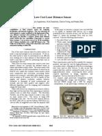 A Low-Cost Laser Distance Sensor