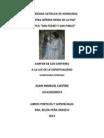 1. Trabajo de Cantar de Los Cantares, Juan Manuel Castro