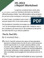 2013 St Paul DFL Resolutions Report Tallied