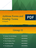Address Forms and Kinship Terms