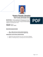 Resume of Ronaldo Romero_Project Engineer