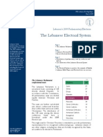 Lebanese Electoral System