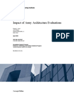 Impact of Army Architecture Evaluations