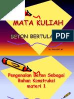 Materi Struktur Beton Bertulang-Materi 1