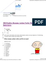 500 Positive Resume Action Verbs That Get Job Interviews _ JobMob