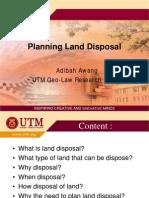 AdibahAwang2009 Planning Land Disposal%2C a Comparison