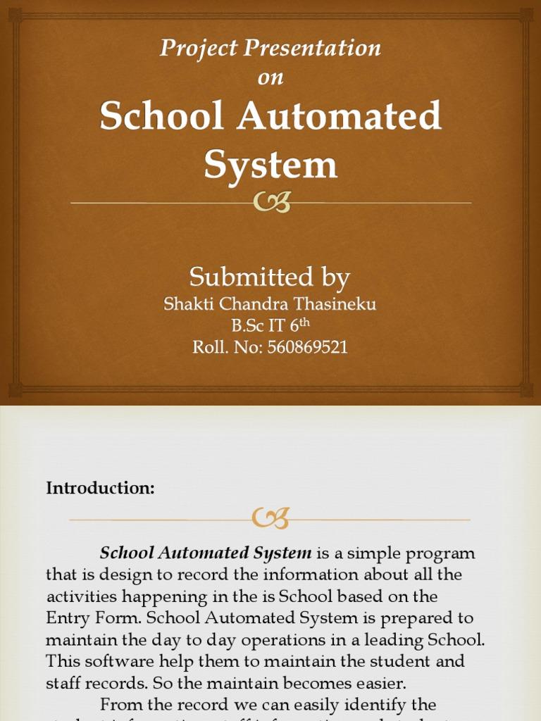 school automated systempptx  microsoft sql server  software