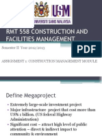 Rmt 558 Construction and Facilities Management