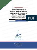 Factores Que Influyen en Logro Academico de Los Alumnos de Primaria en Mexico