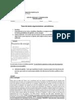 3º M. ARGUMENTACIÓN PERIODÍSTICA COLEGIO EXTREMADURA