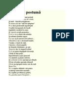 Minulescu - Impacare postuma