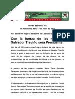 Con la fuerza de las mujeres, Salvador Treviño será Presidente
