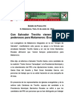 Con Salvador Treviño vienen tiempos poderosos para Matamoros