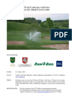 Baltic Golf Greenkeepers Championship Will Start
