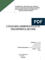 Utilizarea hidrogenului la vehiculele personale