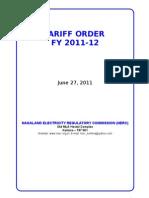 Nagaland Tariff Order 1