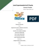 Reporte organización escolar y calidad educativa