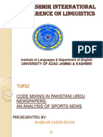 Research Paper (applied linguistics)
