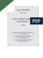 Delbos Theorie Kantienne Liberte