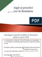 Ideologii și practici politice în România