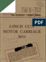 TM 9-752 3-Inch Gun Motor Carriage M10 1943
