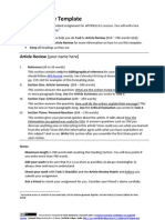 Article Review Template