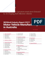 C2311 Motor Vehicle Manufacturing in Australia Industry Report