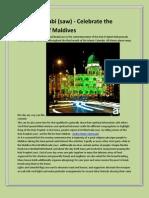 Eid-Milad Nnabi - Celebrate the Festivities of Maldives