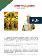 TEOLOGHISIRE PATRISTICĂ LA PRAZNICUL ÎNĂLŢĂRII DOMNULUI A VLĂDICĂI IEROTEI DE NAVPAKTOS